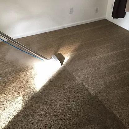 cleaning in process beige floor
