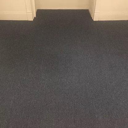 blue floor carpet service after